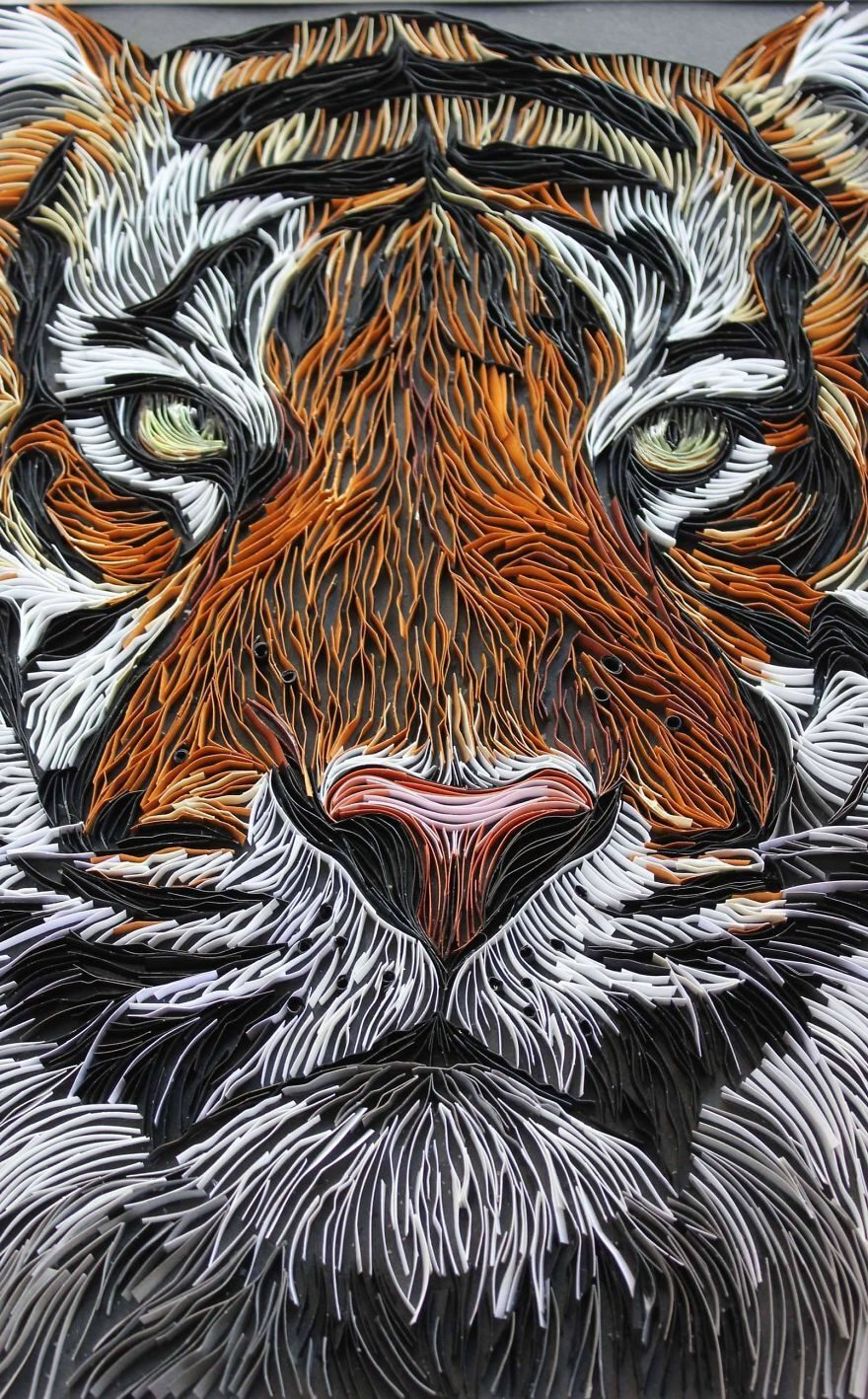 Quilling Paper Artwork Tiger by Bekah Stonefox