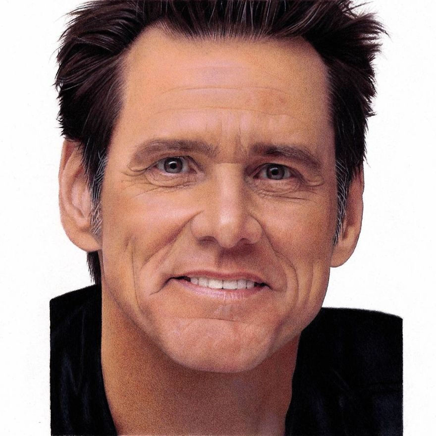 3 Color Pencil Drawing Jim Carrey by Shaun Mckenzie