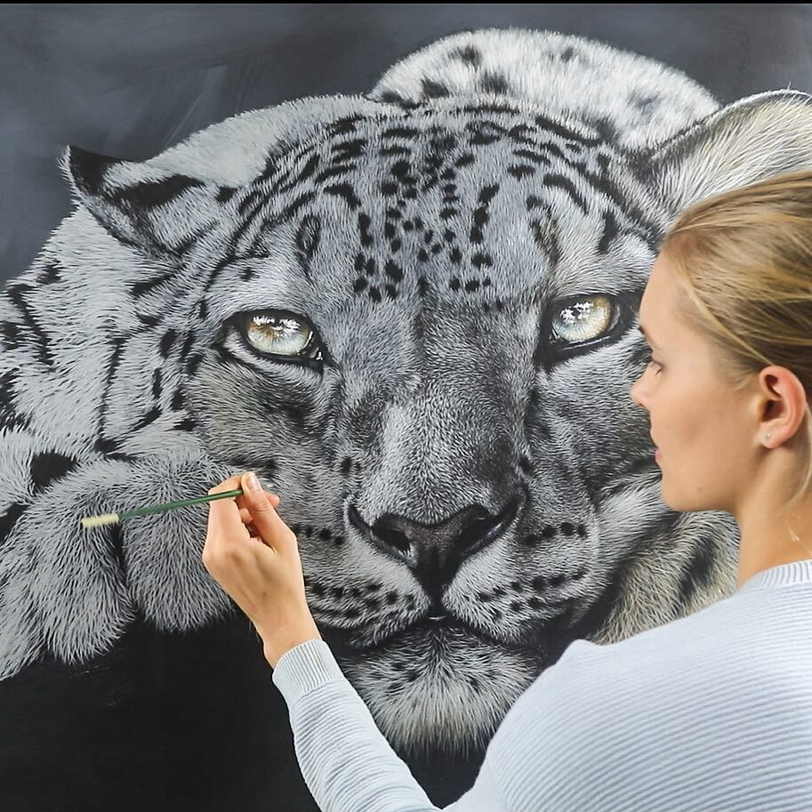 3 hyper realistic painting art tiger by carla grace e1619338865630