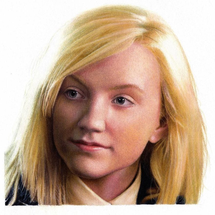 Color Pencil Drawing Evanna Lynch by Shaun Mckenzie