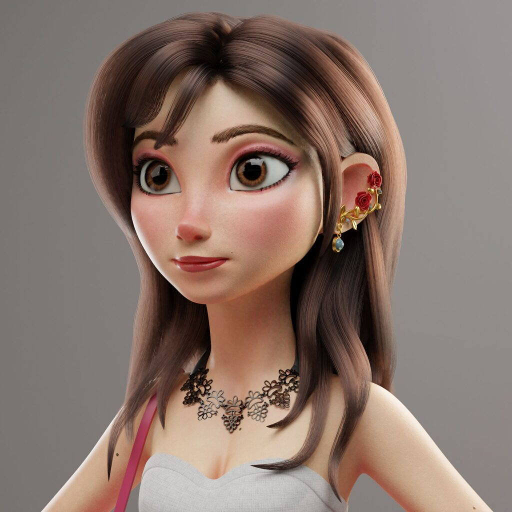 3D Model Toon Girl Yessi-by Jorge Luis