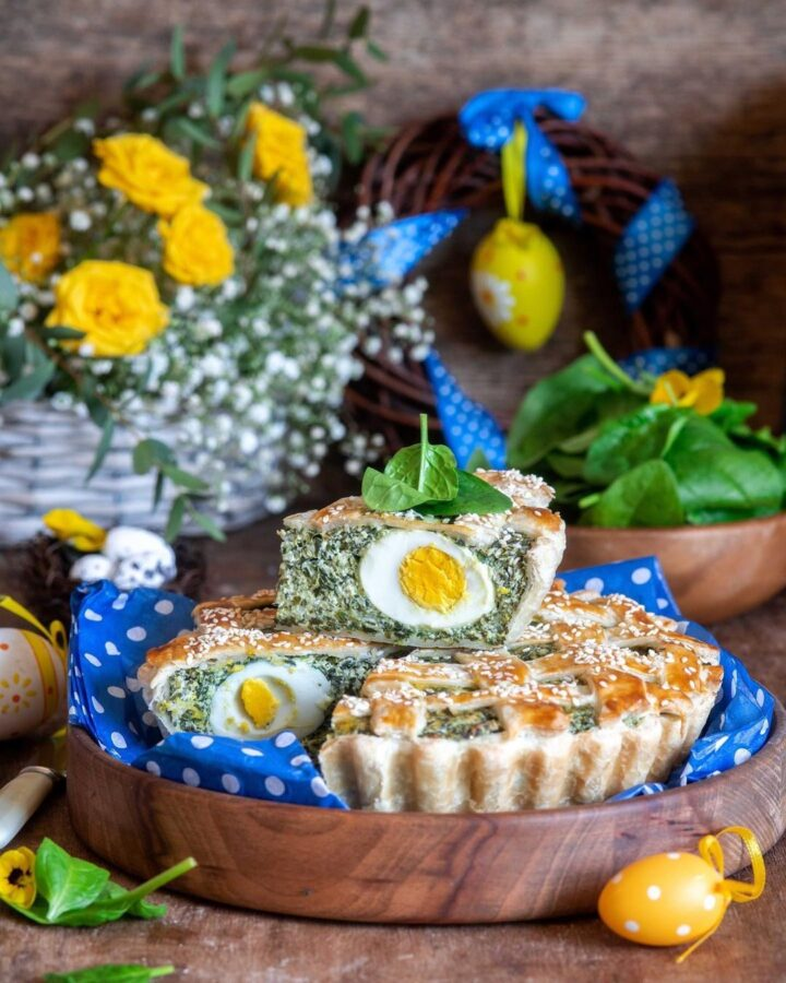 Food Photography Egg and Spinach Pie by Irina Meliukh