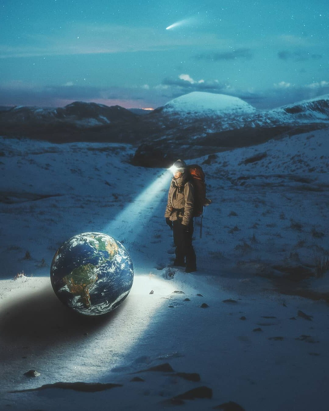 Photomanipulation Earth Finder by Psguy2026