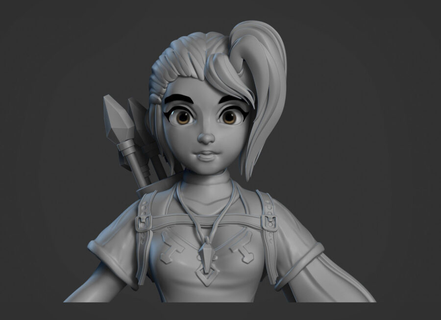 3D Model Chica Toon by Jorge Luis