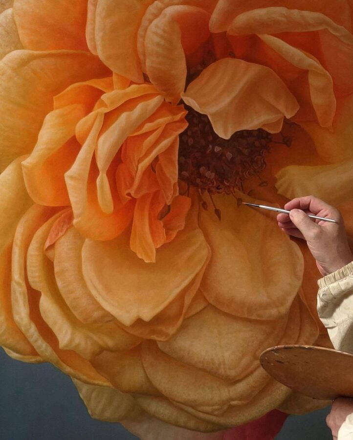 Hyper Realistic Oil Painting Flower by Gioacchino Passini