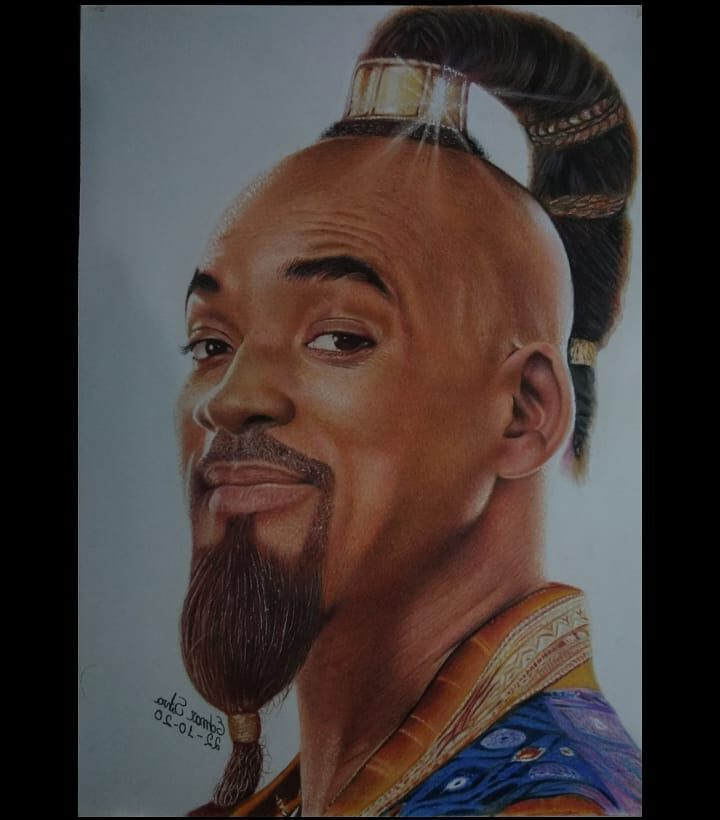 Color Pencil Drawing Genie by Edmar Sliva