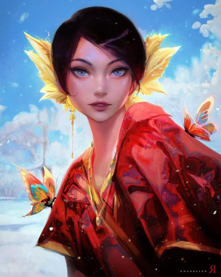 Digital Painting Queen by Ross Tran
