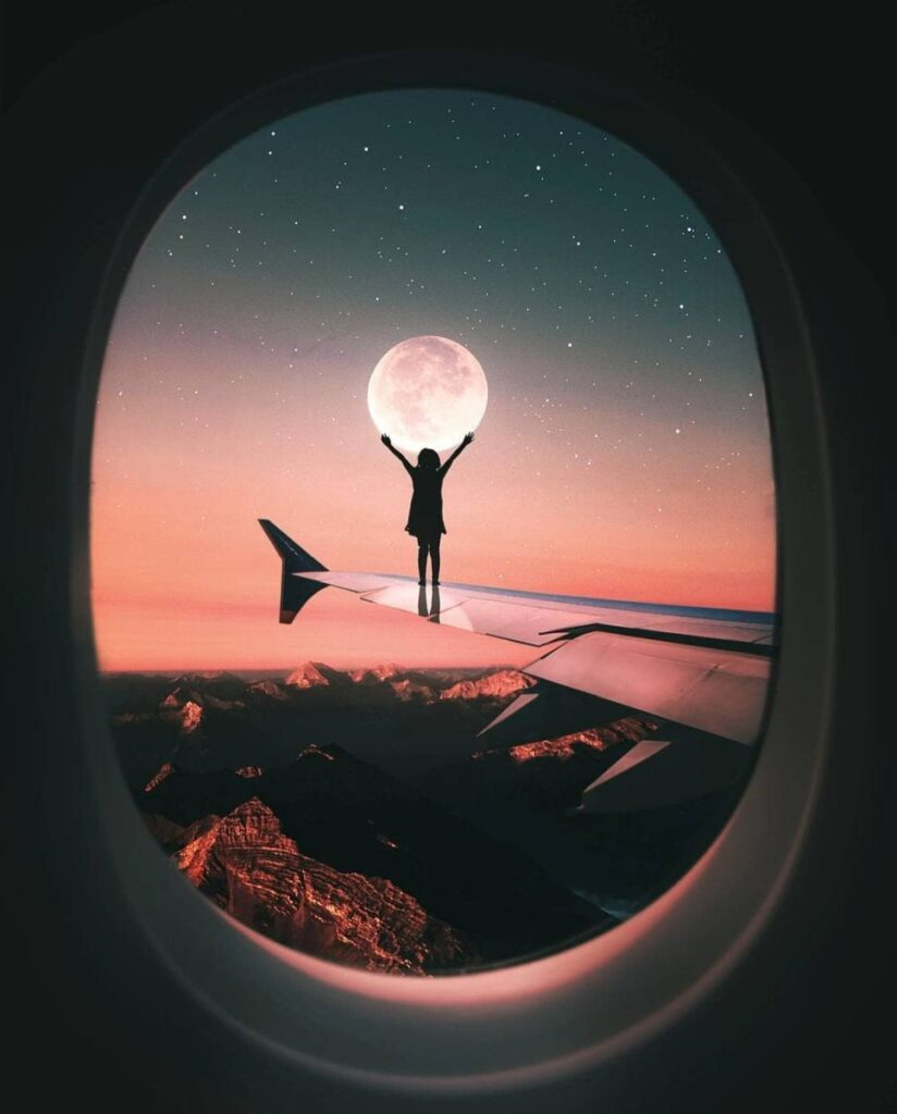 Creative Photomanipulation Catched Moon by Ronnald Ong