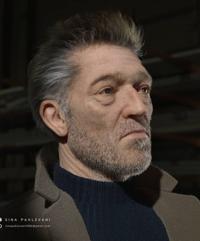 3D Model Design Vincent Cassell by Sina Pahlevani