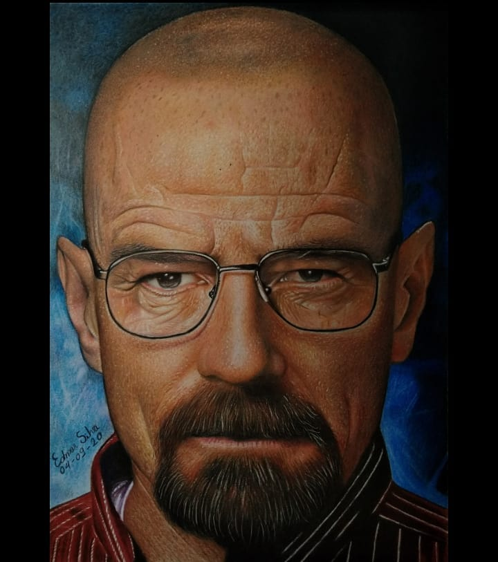 Color Pencil Drawing Walter White by Edmar Sliva