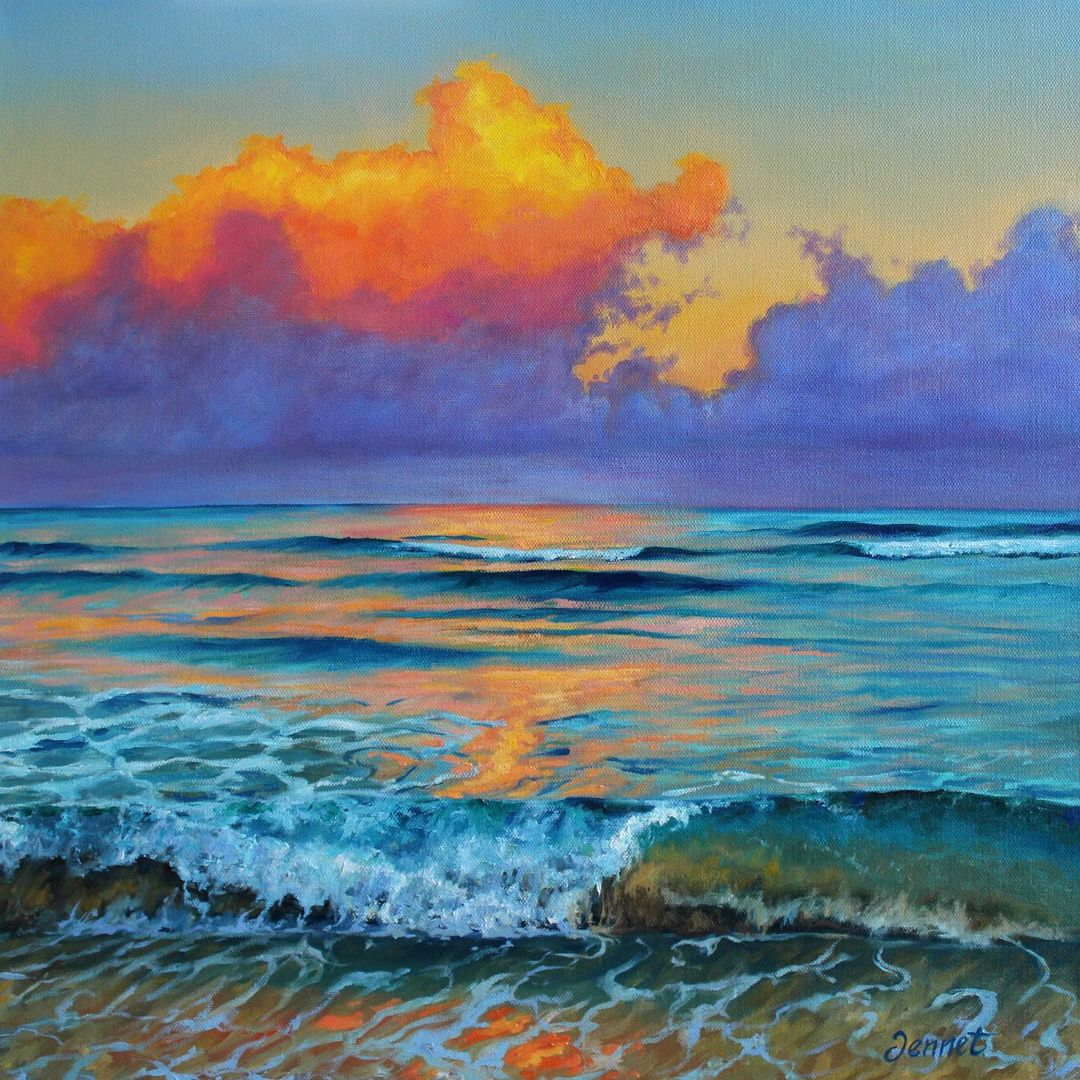 Oil Painting Sea by Jennet Norman