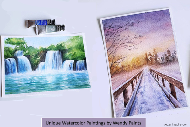f watercolor painting wendy