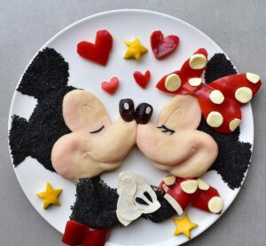 11 food art mickey mouse by laleh mohmedi