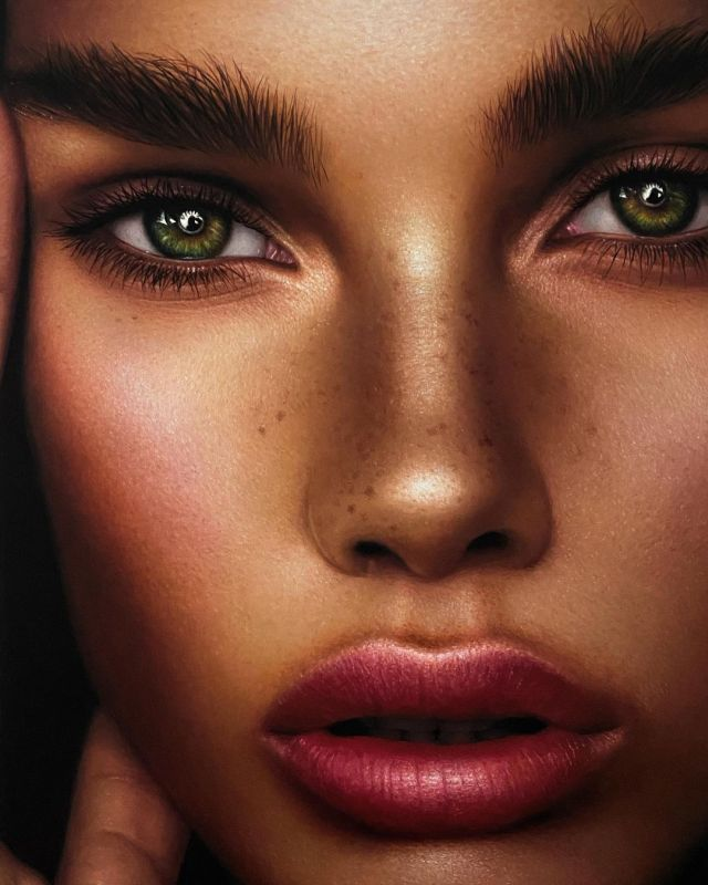Hyper Realistic Oil Painting Woman by Fabiano Millani