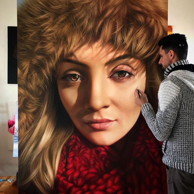 Hyper Realistic Oil Painting Princess Woman by Fabiano Millani