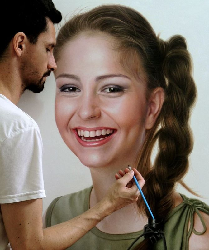 Hyper Realistic OIl Painting GIrl by Fabiano Millani
