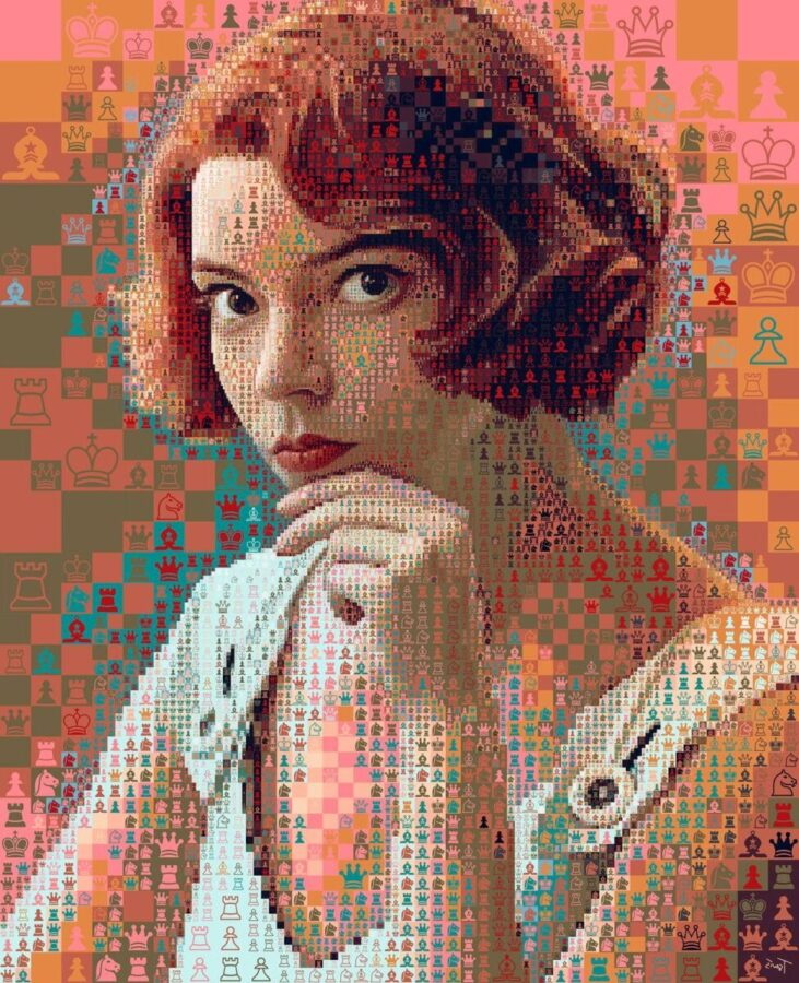 Photo Manipulation Queen Gambit by Chris Tsevis