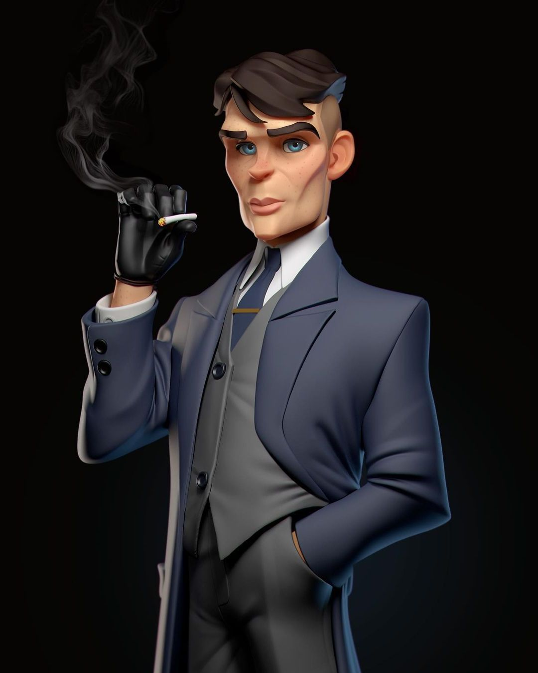 Caricature 3d Model Thomas Shelby by Gabriel Soares