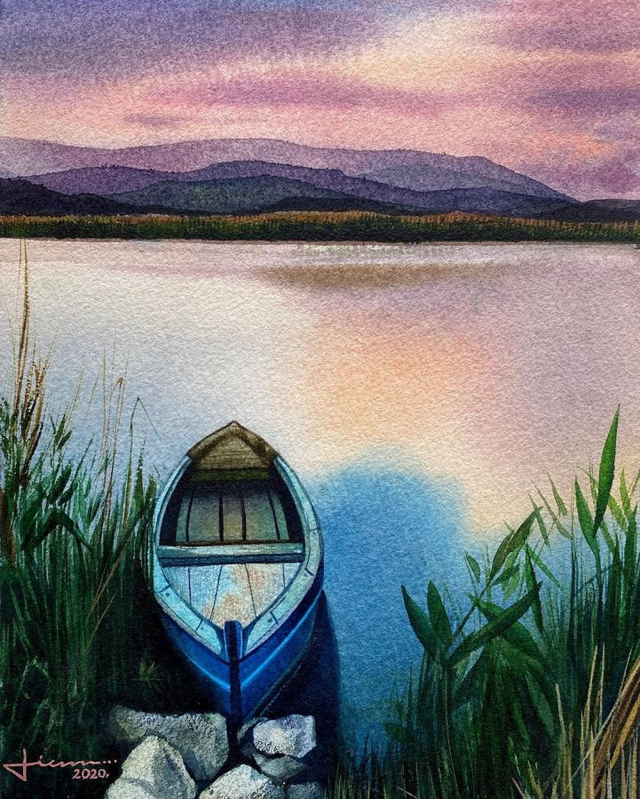 10 watercolor painting quite place by liam kumawat