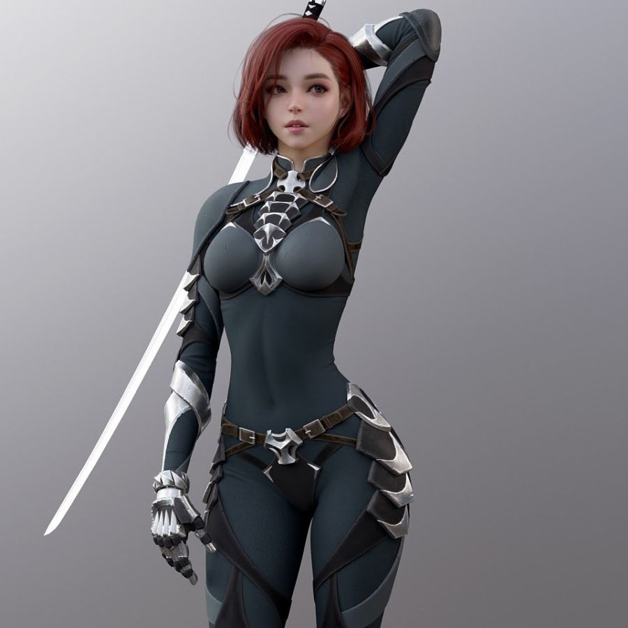 Zbrush Game Character Design Fighter Girl by Shin Jeongho