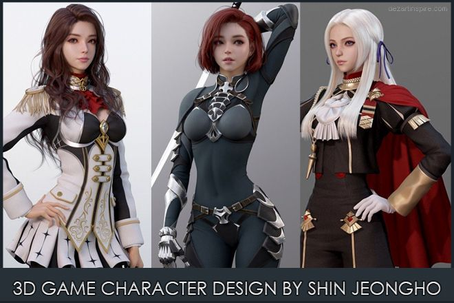 f 3d game character shin