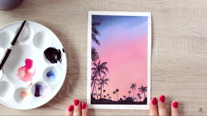 f water color painting makoccino