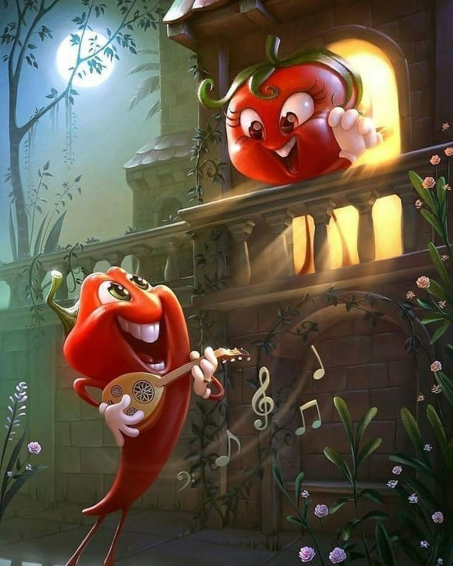 Digital Art Chilli and Tomato Sauce by Tiago Hoisel